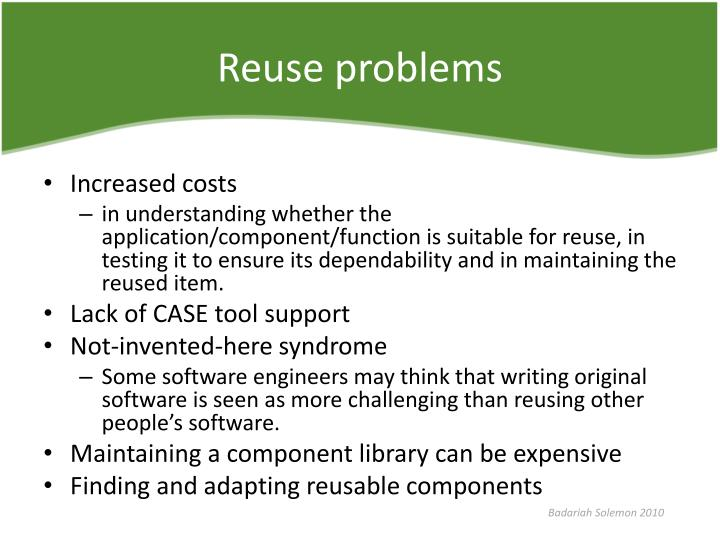 Reuse problems
