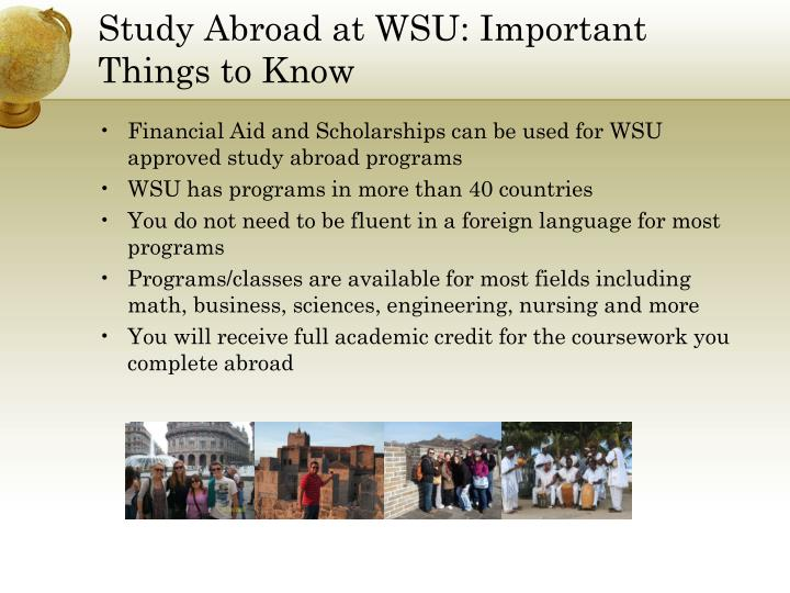 Study Abroad at WSU: Important Things to Know