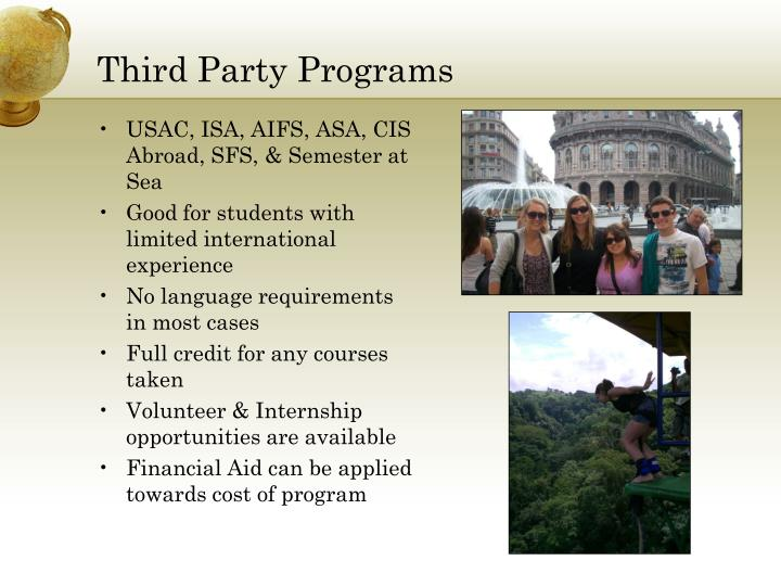 Third Party Programs
