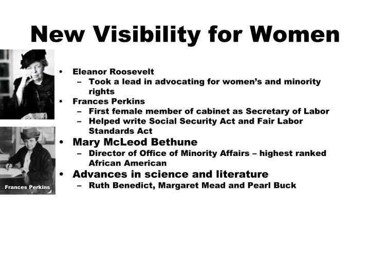 New Visibility for Women