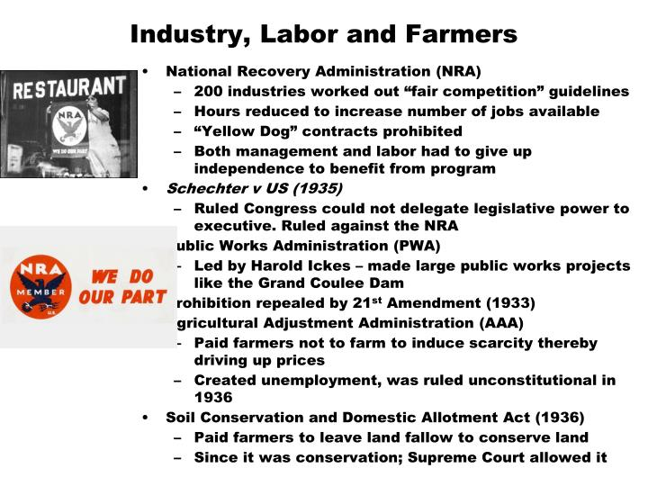 Industry, Labor and Farmers
