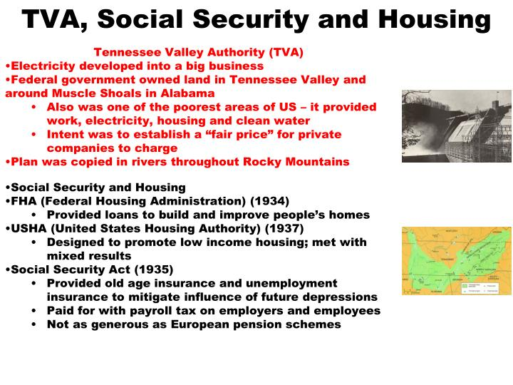 TVA, Social Security and Housing