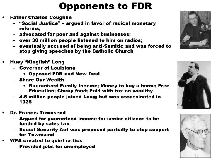 Opponents to FDR