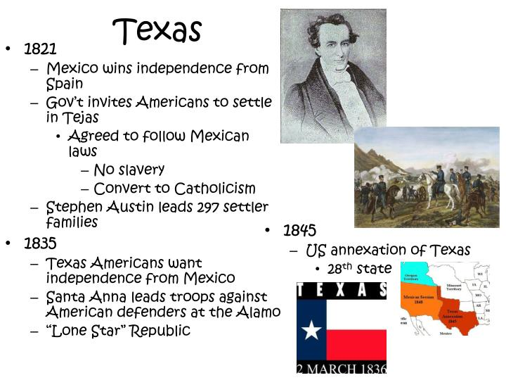 annexation of texas the lone The nation expands texas annexation, 1845  the mexican government, however, never recognized the new state, and for the next decade, the lone star republic had a shaky existence it was under constant threat of invasion from mexico, and the government did not have enough money in its treasury to work effectively.