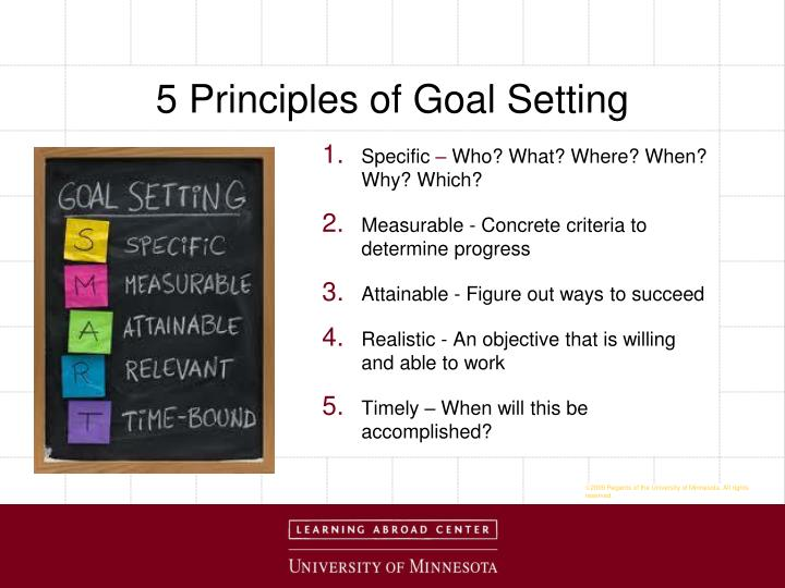 5 Principles of Goal Setting