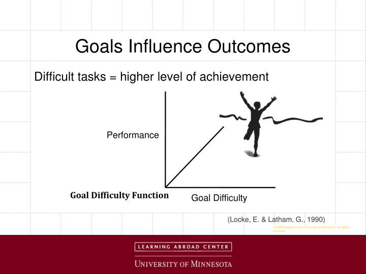 Goals Influence Outcomes