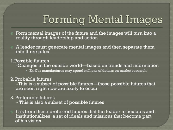 Forming Mental Images