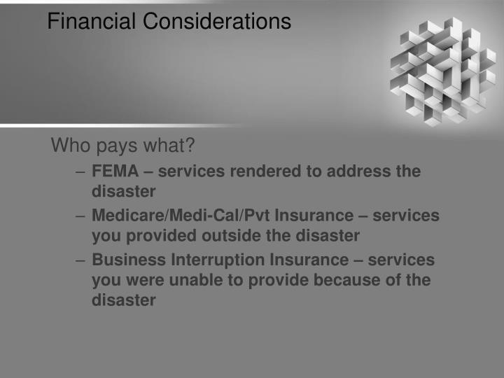 Financial Considerations