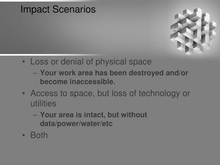 Impact Scenarios