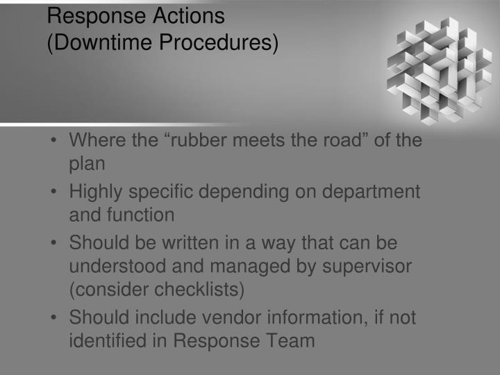 Response Actions