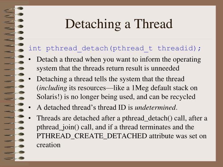 Detaching a Thread