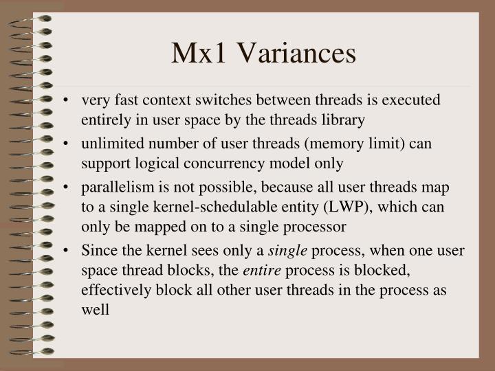 Mx1 Variances