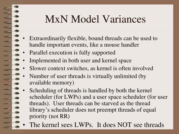 MxN Model Variances