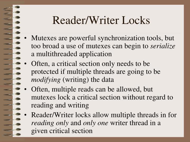 Reader/Writer Locks