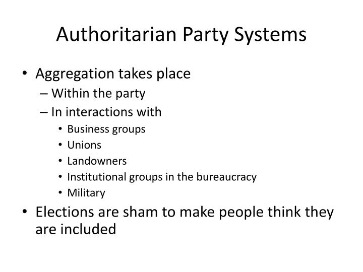 Authoritarian Party Systems
