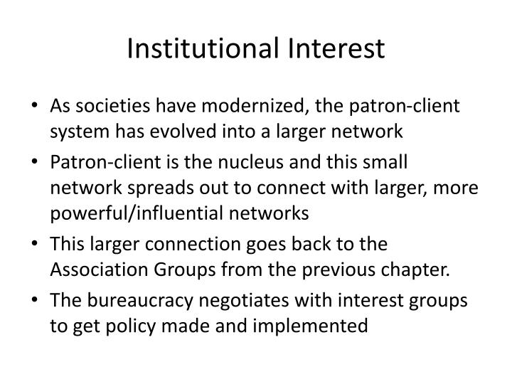 Institutional Interest
