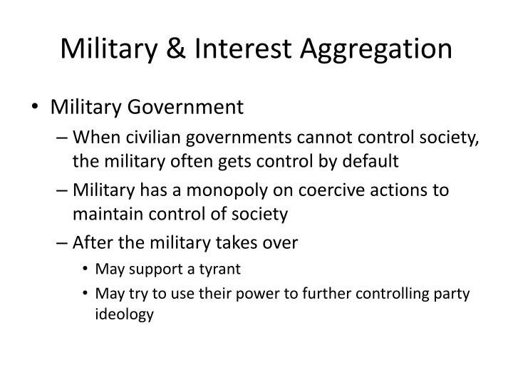 Military & Interest Aggregation