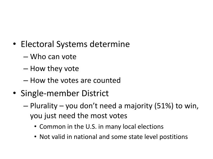 Electoral Systems determine