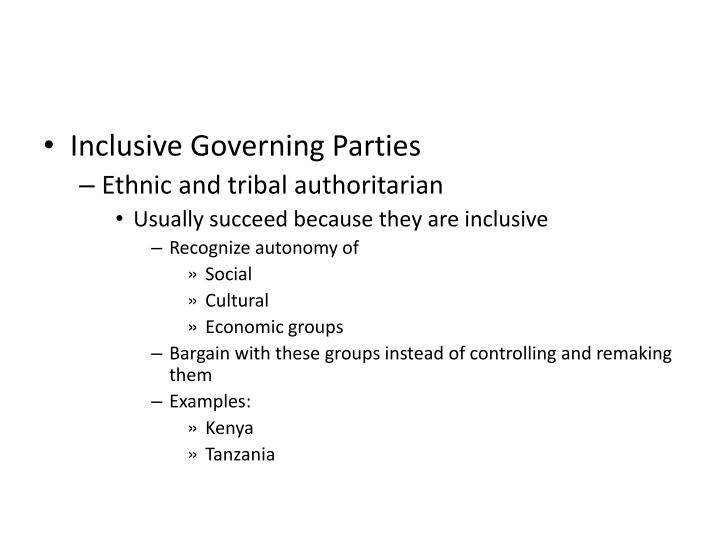 Inclusive Governing Parties