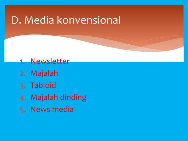 D. Media