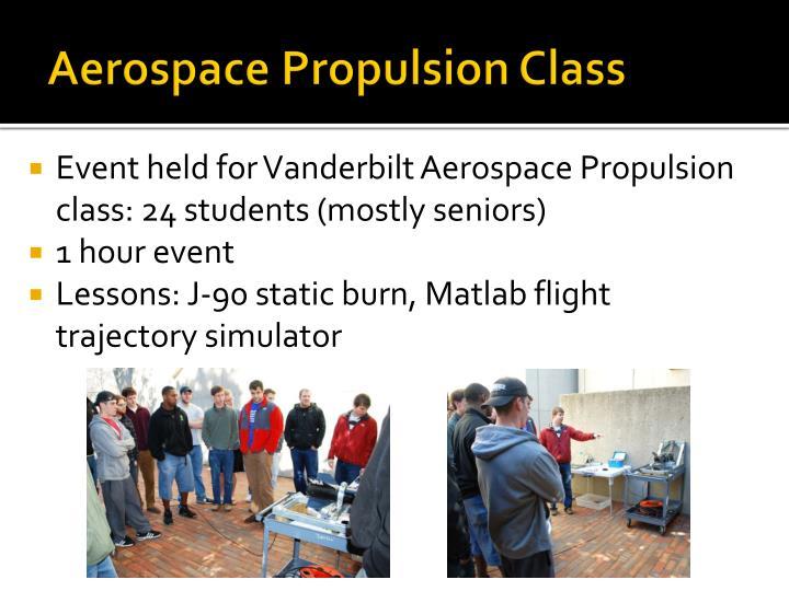 Aerospace Propulsion Class