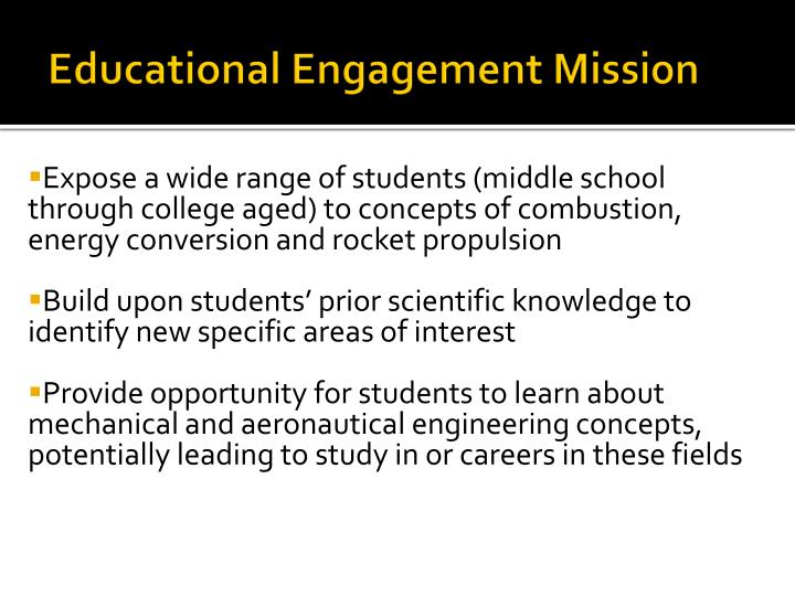 Educational Engagement Mission