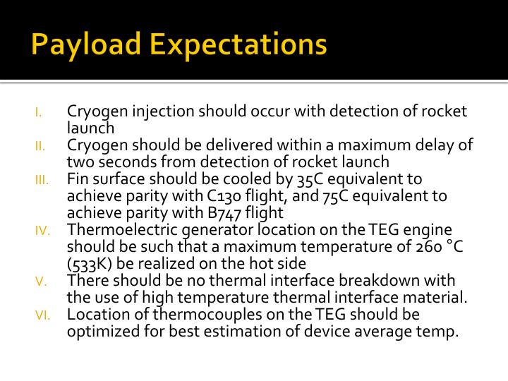 Payload Expectations