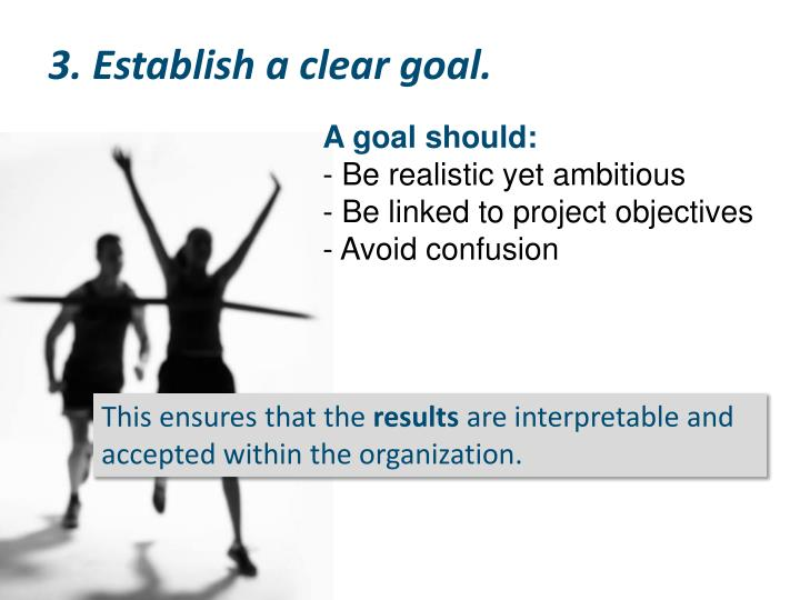 3. Establish a clear goal.