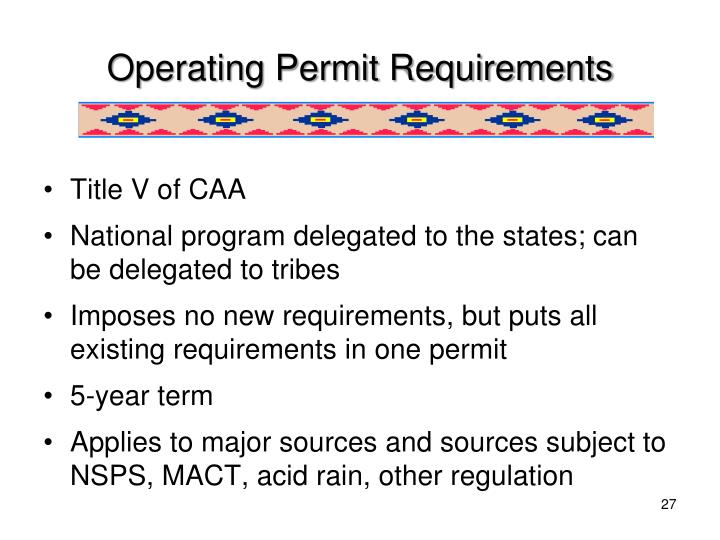 Operating Permit Requirements