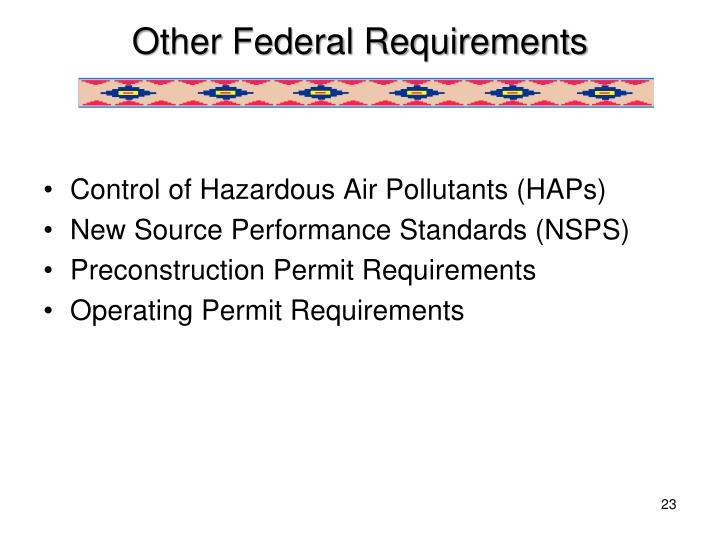 Other Federal Requirements