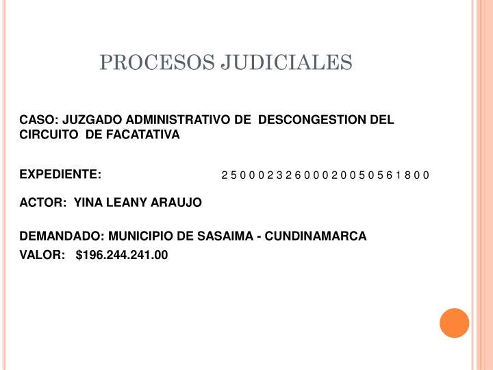 PROCESOS JUDICIALES