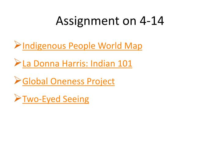 Assignment on 4-14