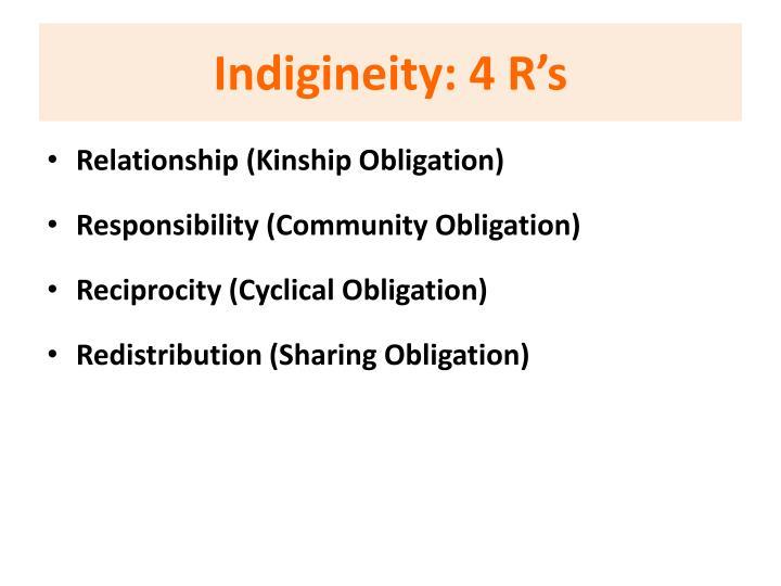 Indigineity: 4 R's
