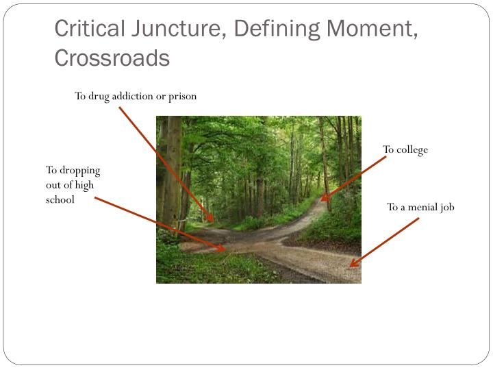 Critical Juncture, Defining Moment, Crossroads