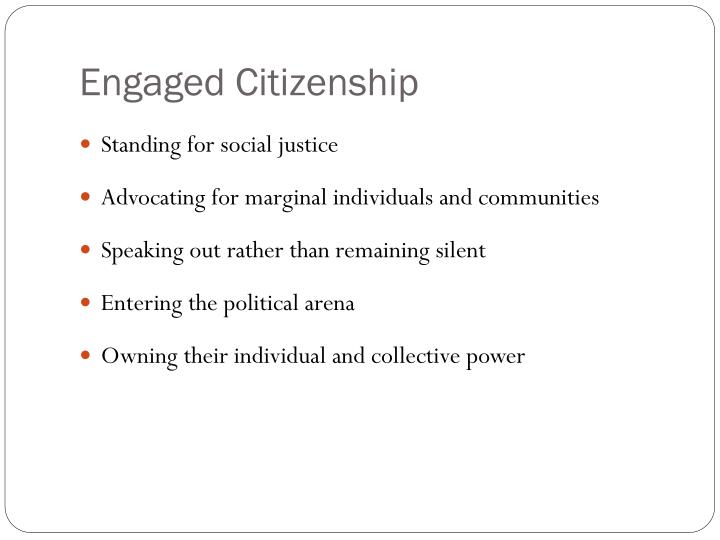 Engaged Citizenship