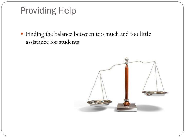 Providing Help