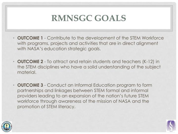 RMNSGC Goals