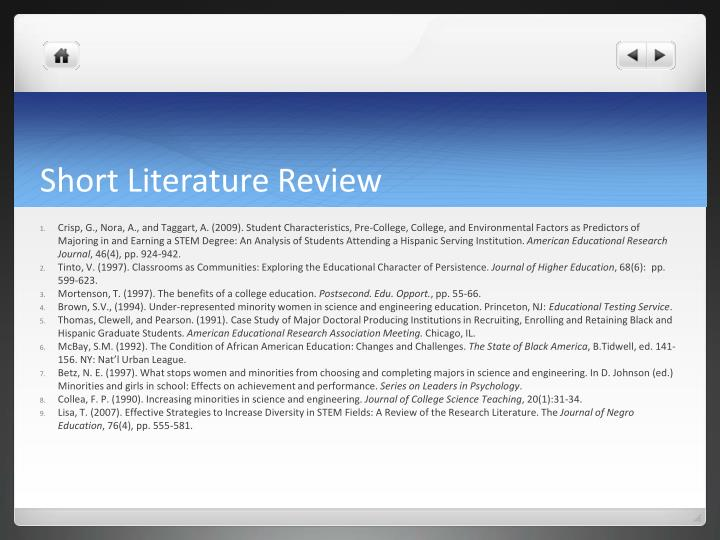 Short Literature Review