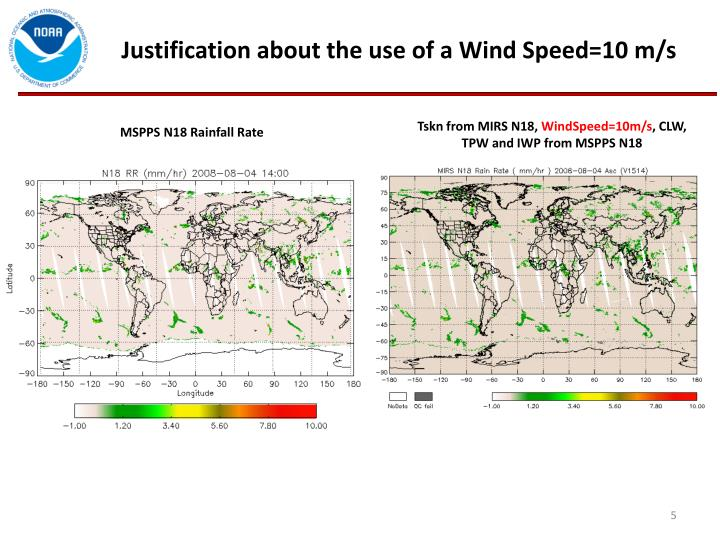 Justification about the use of a Wind Speed=10 m/s