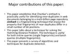 major contributions of this paper
