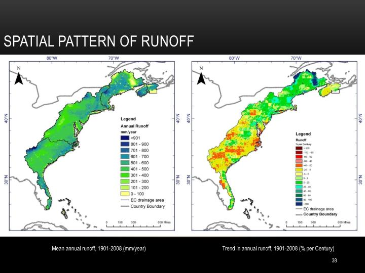 Spatial pattern of runoff