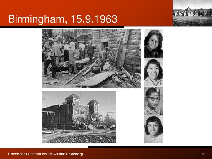 Birmingham, 15.9.1963