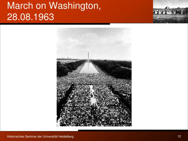 March on Washington, 28.08.1963