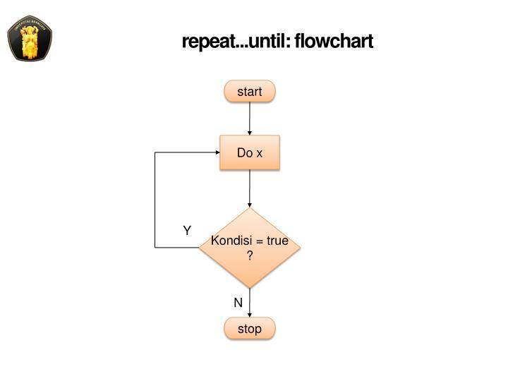 repeat...until: flowchart