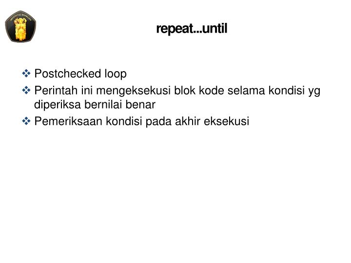 repeat...until