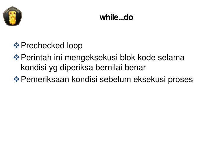 while...do