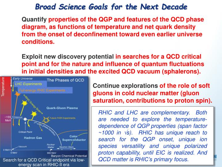 Broad Science Goals for the Next Decade