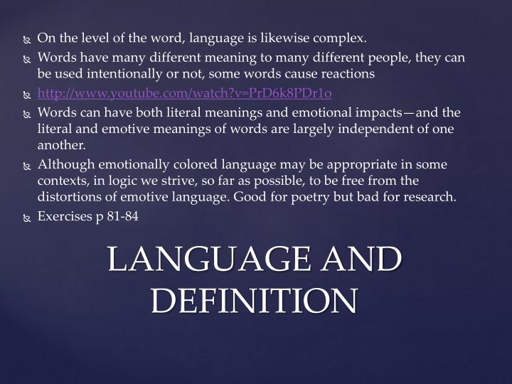 Language and definition2
