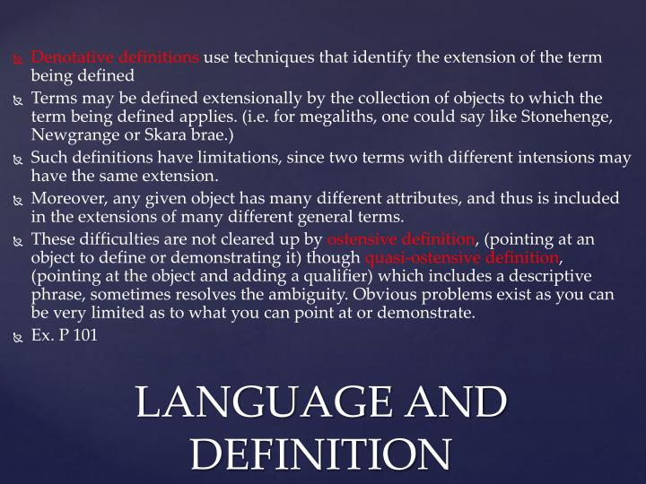 Denotative definitions