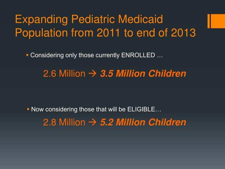 Expanding Pediatric Medicaid